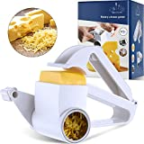 Rotary Cheese Grater Manual Handheld Cheese Grater with Stainless Steel Drum for Grating Hard Cheese Chocolate Nuts Kitchen Tool