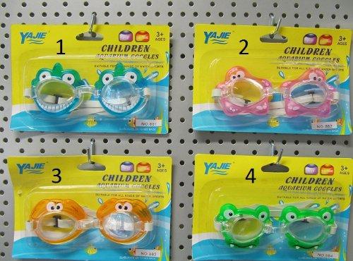 Lunette High Style de piscine Natation ANIMAUX pour Enfant 3+ - Couleur ORANGE