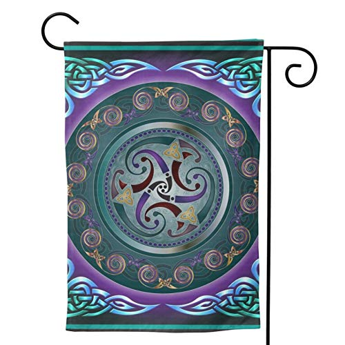 MINIOZE Celtic Wicca Irish Wiccan Party Themed Flag Welcome Outdoor Outside Decorations Ornament Picks Garden Yard Decor Double Sided 12.5X 18 Flag