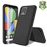 RioGree for Google Pixel 4 Case with [ 2-Pack Screen Protector ] Silicone TPU Cute Shockproof D…
