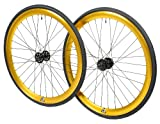 Retrospec Mantra 700c Deep V Fixed-Gear/Single-Speed Wheelset, Gold