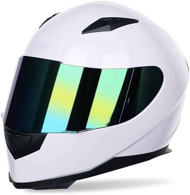 Motuo Motorradhelm Integralhelm Damen Herren Racing Helm Incl Verspiegeltem Visier Sport Freizeit