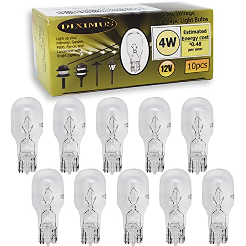 Diximus - 12 Volt 4 Watt Low Voltage T5 Landscape Bulb - Landscape Light Bulbs – Low Voltage Landscape Light Bulbs - 10 Pack