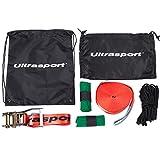 Ultrasport Slackline-Set 15 m lang, 5 cm breit + Baumschutz - 2