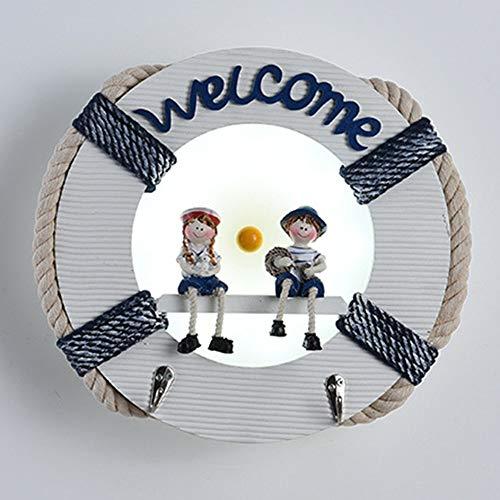 XZhstes Lámpara de pared blanca para habitación de niños, diseño de dibujos animados, lámpara decorativa para mesita de noche, lámpara de jardín de infancia, cálida lámpara de pared 30 x 8 x 30 cm