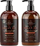 ROYAL FORMULA - Moroccan Argan Oil Shampoo and Conditioner Set - Sulfate Free - Best for Dry, Damaged, Frizzy and Color-Treated Hair, Safe for Keratin - All Hair Types for Men & Women (16 FL. OZ Each)
