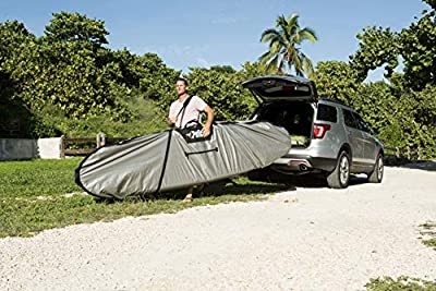 Pelican Boats - Stand-Up Paddleboard Bag - PS1458 - Deluxe Travel Carry Bag – Heavy Duty Carrier & Cover – Paddle Storage - Fits Most SUPs, Grey