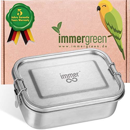 immer Premium Edelstahl Brotdose - Die Nachhaltige Bento Lunchbox ist auslaufsicher, plastikfrei, leicht zu reinigen und perfekt für Unterwegs (800 ml)