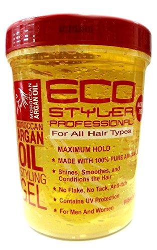 Gel coiffant Eco Styler - À l'huile d'argan marocaine - Fixation légère - 946 ml