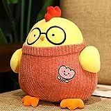 Kawaii Fatty Doctor pollo de peluche de juguete relleno de pollo redondo Animal almohada de felpa muñeca de bebé de dibujos animados lindo regalo de Navidad 40Cm