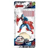 Captain America 303007 KIT Decoration GÂTEAU Figurine, Plastique, Multicolore, 11 x 5 x 23 cm