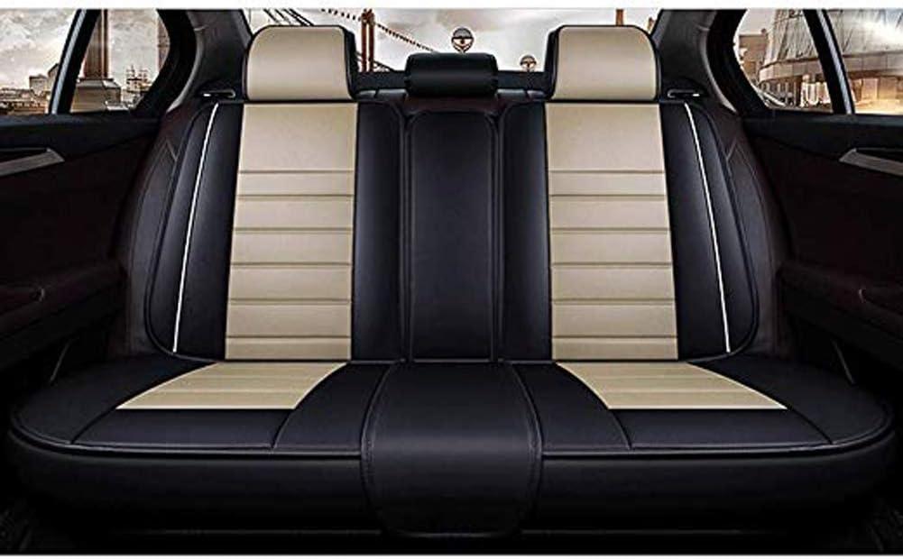 5 Vordersitze Und 5 R/ücksitze Vier-Jahreszeiten-Universal-PU-Sitzbez/üge Kompletter Satz ZMCOV Lederbez/üge F/ür Autositze Airbags-Kompatible Kfz-Polster,Beige