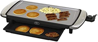 """Oster DuraCeramic 10"""" x 20"""" Electric Griddle w/Warming Tray"""