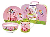 Set de Vajilla Infantil Decorativa de Porcelana' Hadas'. Vajillas y Cuberterías. Regalos Originales para Reyes, Navidad y Cumpleaños. Menaje de Cocina.