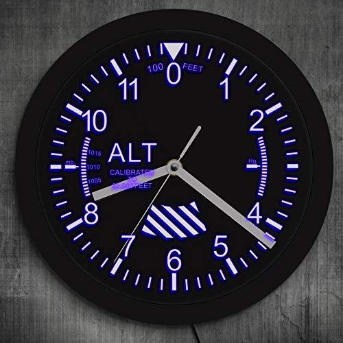 Höhenmesser Wandleuchte Militär Höhenmesser Tracking LED Wanduhr Flugzeug Höhenmesser Instrument Stil Uhr Geschenk Für Pilot