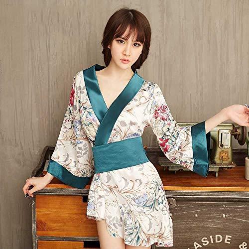 ZHANGNUO Sexy Dessous Frauen Gedruckt Kimono Sexy Anzug Frech Sexy Versuchung Uniform Leidenschaft Kleidung Sex Liefert Cheongsam Einheitsgröße/Passen