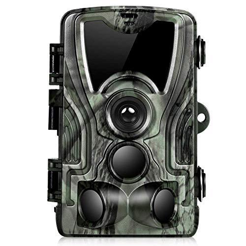 SXZHSM Trail Kamera Upgrade 2,0 Zoll LCD-Monitor 16 Megapixel 1080P Wildkamera Falle for Den Außenbereich Natürlichen Garten Home Security Überwachung Infrarot Nachtsicht Bis Zu 65 Fuß / 20 Meter IP65