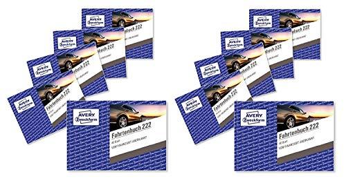 Avery Zweckform 222-10 Fahrtenbuch für PKW (A6 quer, 40 Blatt) 10er Pack, weiß (10 Stück)
