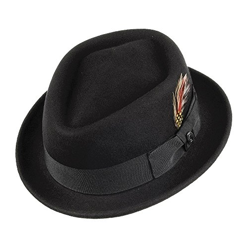 Jaxon & James Chapeau Pork Pie Diamond Crown Noir Medium