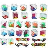 28 Mini Giochi di Puzzle, 24 Set di Puzzle, 4 Mini Skateboard per Dita, Diversi Livelli di Giochi, Giochi di Livello Diverso, Perfetti per Adulti o Bambini (28 Mini Puzzle)