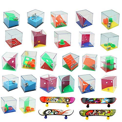 28 Mini Juegos Rompecabezas, Set de 24 Puzzles, 4 Patineta Mini Dedo,Juegos con Niveles Diferentes, Juegos con Niveles Diferentes, Adultos o Niños (Mini Juegos Rompecabezas)