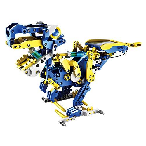 12-in-1 Solar Hydraulik Robot – 231 Bauteile – 12 Verschiedene Modelle möglich – SOLARENERGIE und HYDRAULIK als Antrieb – Batterien überflüssig – Für Groß und Klein geeignet – 342697