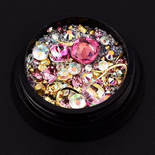 SOOSISI Nail Art Accessories 4cm Black Box 9# Set de manicura creativa rosa