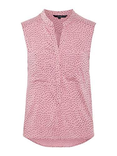 VERO MODA Damen Hemdbluse Blusentop mit Print Ärmellose Bluse Sommerbluse (M, Foxglove/Black Dot)