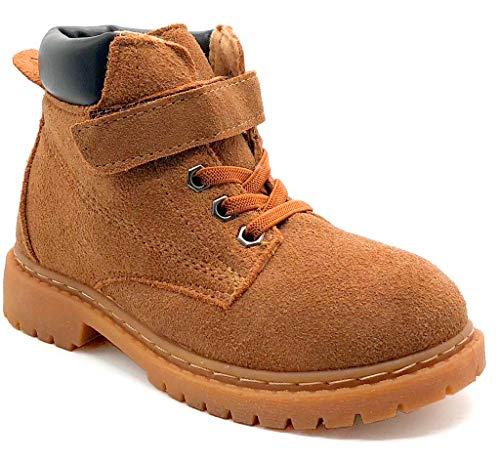 Gaatpot Kinder Winterschuhe Jungen Mädchen Winterstiefel Winter Warm gefütterte Leder Stiefel Snow Boots Schuhe Braun 29 EU = 30 CN