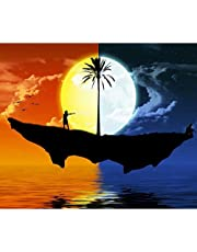 Andux 5D Diamond Painting Kits Full Round Drill Arts Craft for Home Wall Decor ZSH-01 (30 x 35cm) (Island on the Sea)