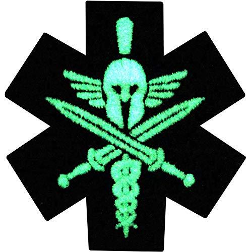 Táctico Médico Espartano Moral Resplandor en el parche oscuro Bordado de Aplicación con Plancha