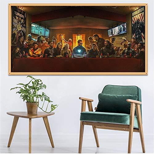 Pittura Tela Poster del Film Canvas Grande Decorazione della casa della Marvel Comics Iron Man del Fumetto della Pittura Arte della Parete for Vivere Room Decor Quadri