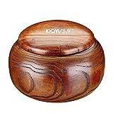 Cuenco de hilo de madera hecho a mano con madera para tejer y ganchillo para almacenamiento de suministros de tejer hechos a mano
