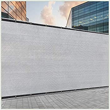 ColourTree 5  x 50  Grey Fence Privacy Screen Windscreen Cover Fabric Shade Tarp Netting Mesh Cloth - Commercial Grade 170 GSM - Cable Zip Ties Included - We Make Custom Size