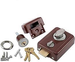 Ouderwets buitendeurslot, drie veiligheidssloten, 35-50mm met sleutel, universeel type