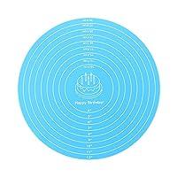 12 インチ 焼き物 再利用 耐久性 ニーディングパッド ベーキングマット シリコンペーストマット マット圧延 非棒(Blue)