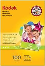 "Kodak Photo Paper for inkjet printers, Gloss Finish, 7 mil thickness, 100 sheets, 4"" x 6"" (1743327)"