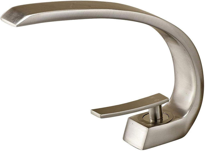 Wasserhahn Kreatives Design Einhebel Waschbecken Wasserhahn gebürstetem Nickel mischbatterie