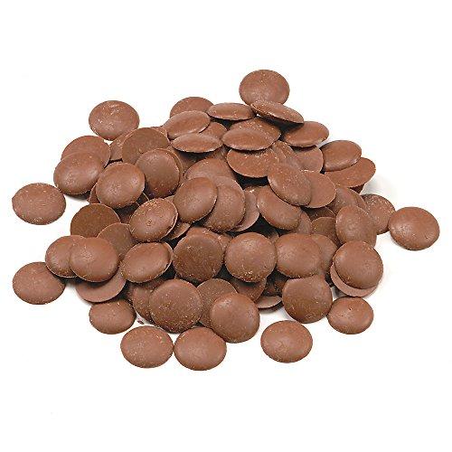 Echte Belgische Milchschokolade (2,5 kg) Kuvertüre Callets für Schokoladenbrunnen Fondue und alle Schokoladenrezepte