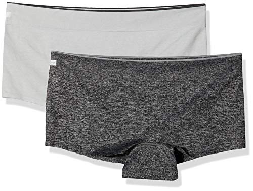 Sloggi Damen Women Move Seamless Shorty C2P Hipster, Grau (Grey Combination M013), XL (2erPack)