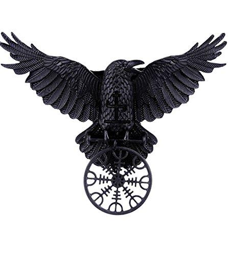 Dark Dreams Gothic Witchy Hexe Rune Rabe Krähe Hugin Munin Haarspange Hairclip Haarschmuck Asatru