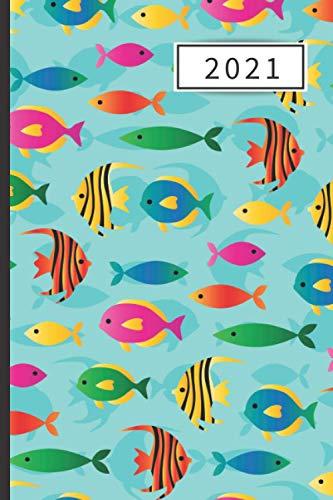 AGENDA 2021: Agenda semana vista (Enero 2021 / Enero 2022) | Anual | Tamaño de bolsillo | Planificador semanal (Español) | 1 semana en 2 páginas | ... o Estudiantes | Tapa peces tropicales