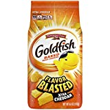 Goldfish Flavor Blasted Xtra Cheddar Crackers, Snack Crackers, 6.6 oz bag (Pack of 6)