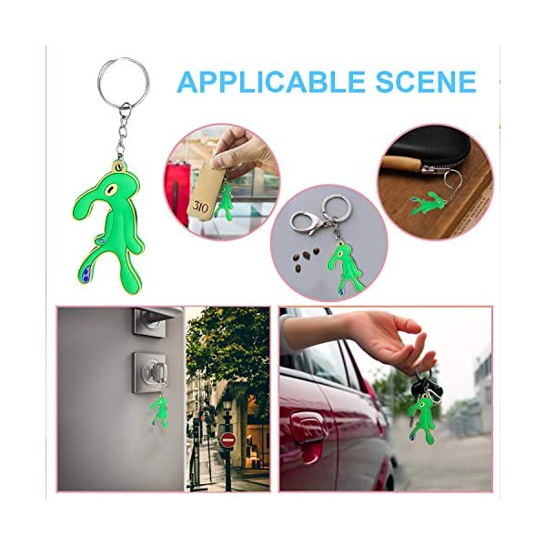 CARRYFUTURE cute keychains for car keys Bold and Brash Soft Cartoon Meme Decoration Key Chains Ring Mini Backpack Hook Keyring for Bag and Belt Loop Accessory Weird Creative Birthday Party Favor Suppl