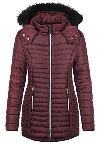 Blend SHE Sabia Damen Winter Jacke Mantel Parka Steppmantel Winterjacke gefüttert mit Kunst-Fellkapuze, Größe:L, Farbe:Zinfandel (73006)