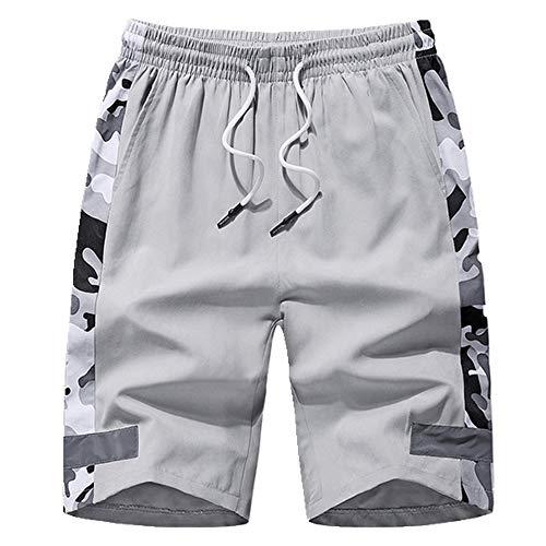 N\P Verano Pantalones Cortos Hombres Camuflaje Hombres Pantalones Cortos de Fitness Elevación Pantalones Cor