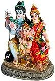 "Krishna Culture Shiva Family Ganesh Parvati Lingam 3.5"" Hindu Statue Idol Golu Doll"