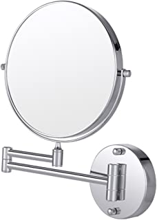 Makeup Mirror,Cozzine Wall Mount Makeup Mirror,10x Magnifying Two Side Vanity Extendable Bathroom Mirror - Sliver
