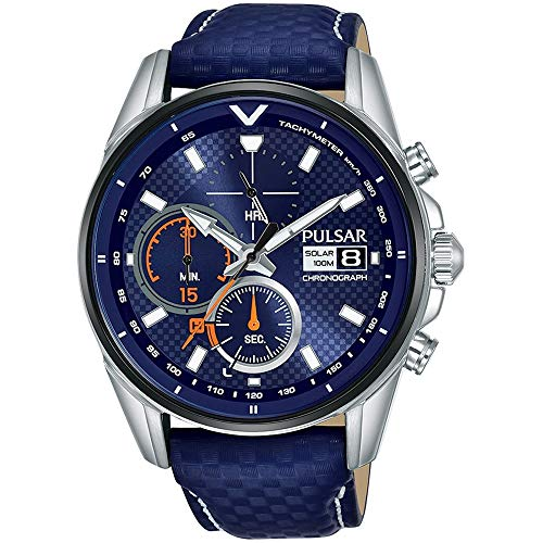 Pulsar Quarz Uhr mit Leder Armband 8431242963525