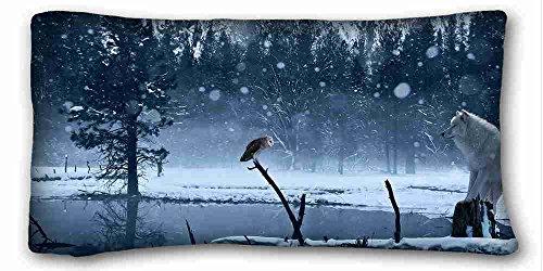 Nature Custom Charakteristik (Tiere Hund Field Sprache) Kissenbezüge Cover 50,8x 91,4cm One Seite geeignet für Queen-Bed, Seide, Muster 9, European